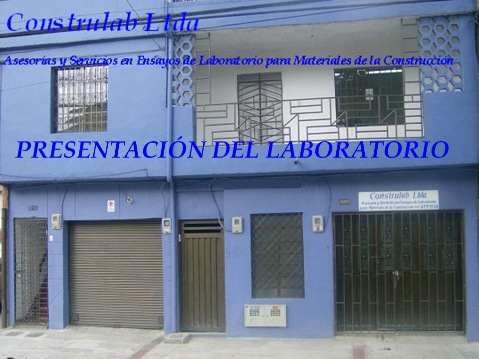 PRESENTACIÓN DEL LABORATORIO