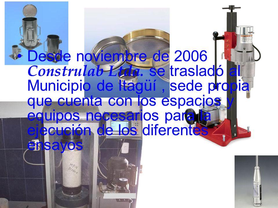 Desde noviembre de 2006 Construlab Ltda