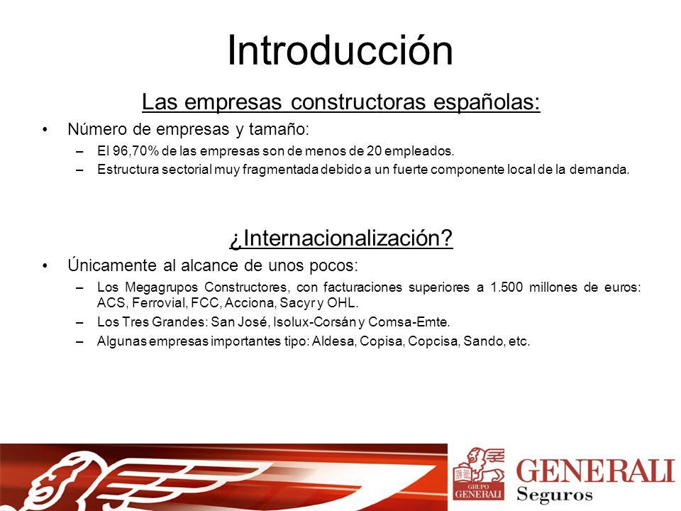 Introducción Las empresas constructoras españolas: