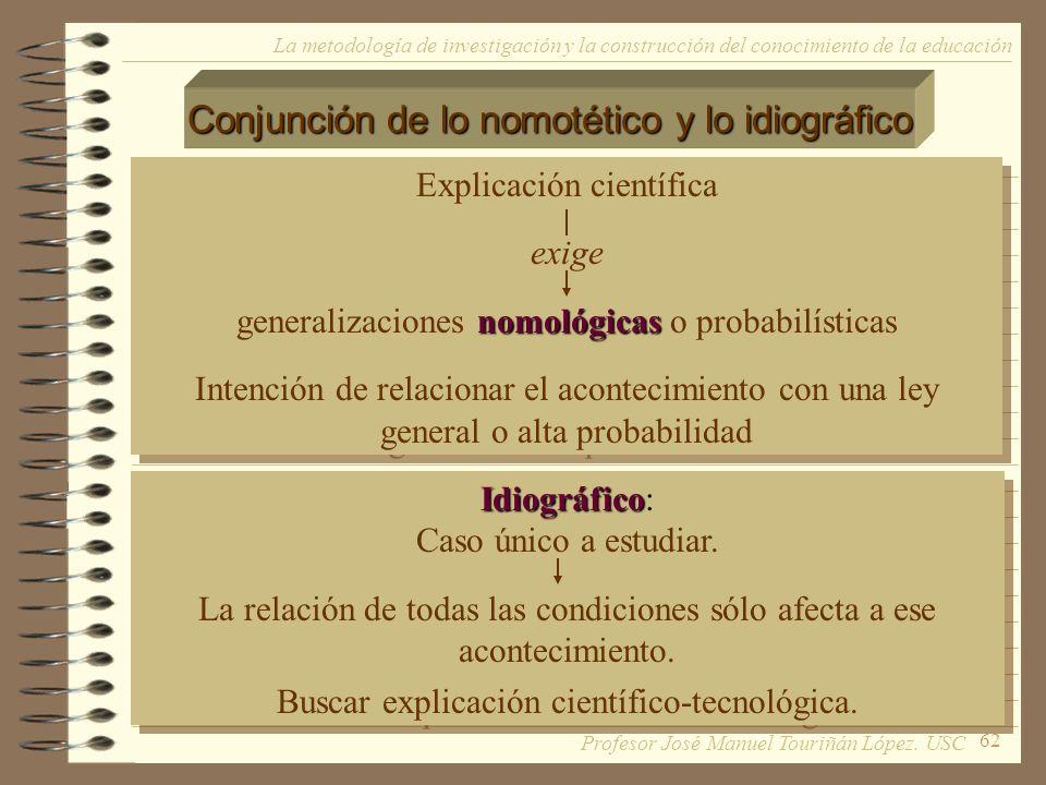 Conjunción de lo nomotético y lo idiográfico