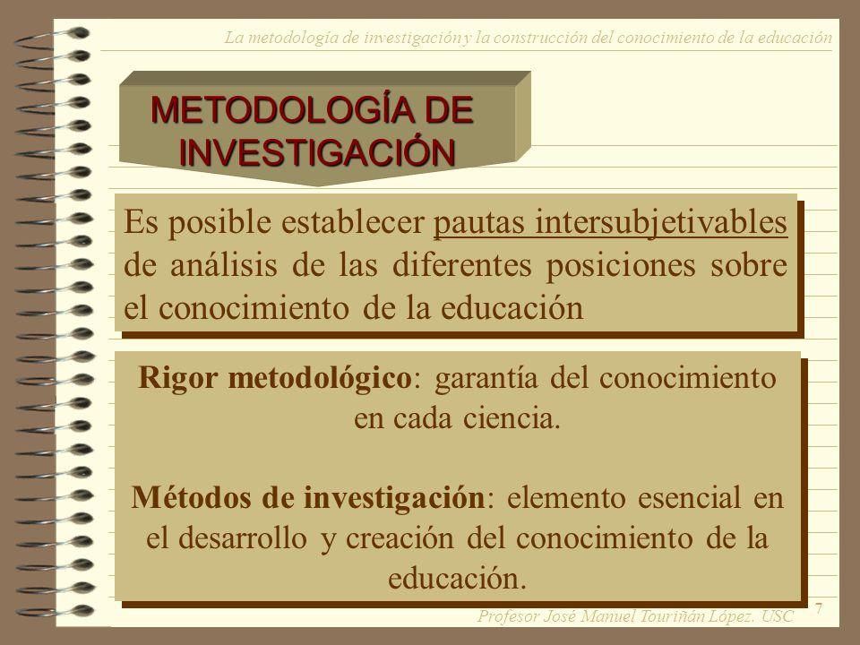 Rigor metodológico: garantía del conocimiento en cada ciencia.