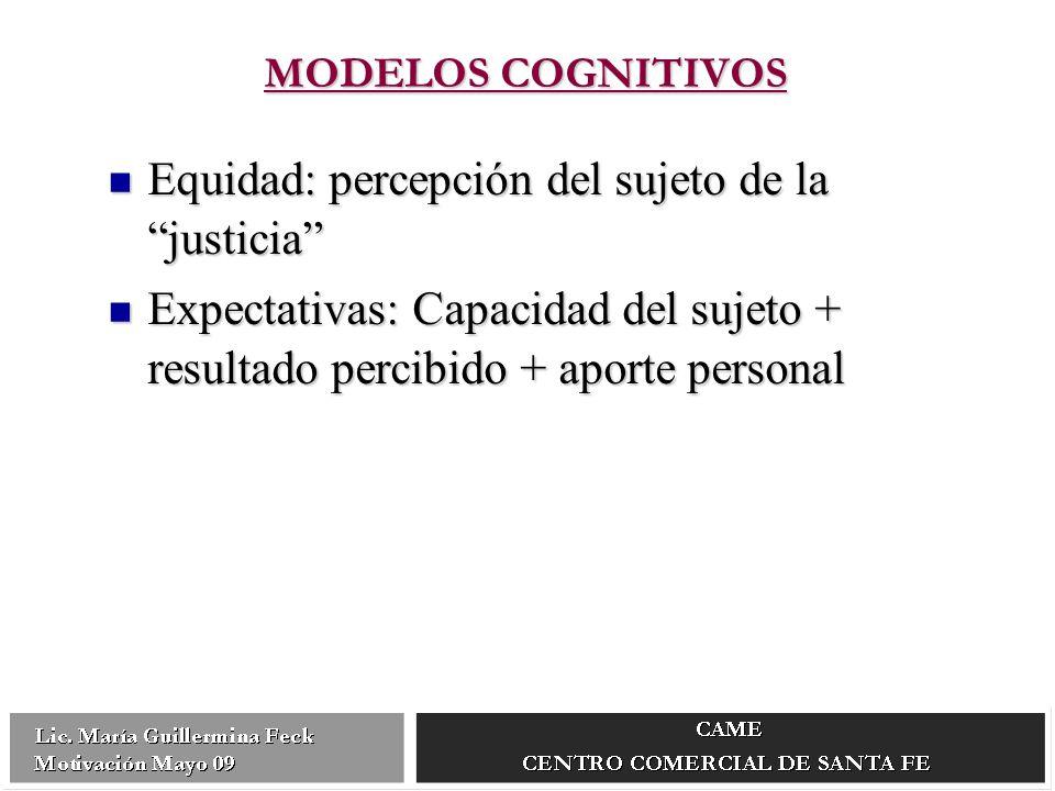Equidad: percepción del sujeto de la justicia