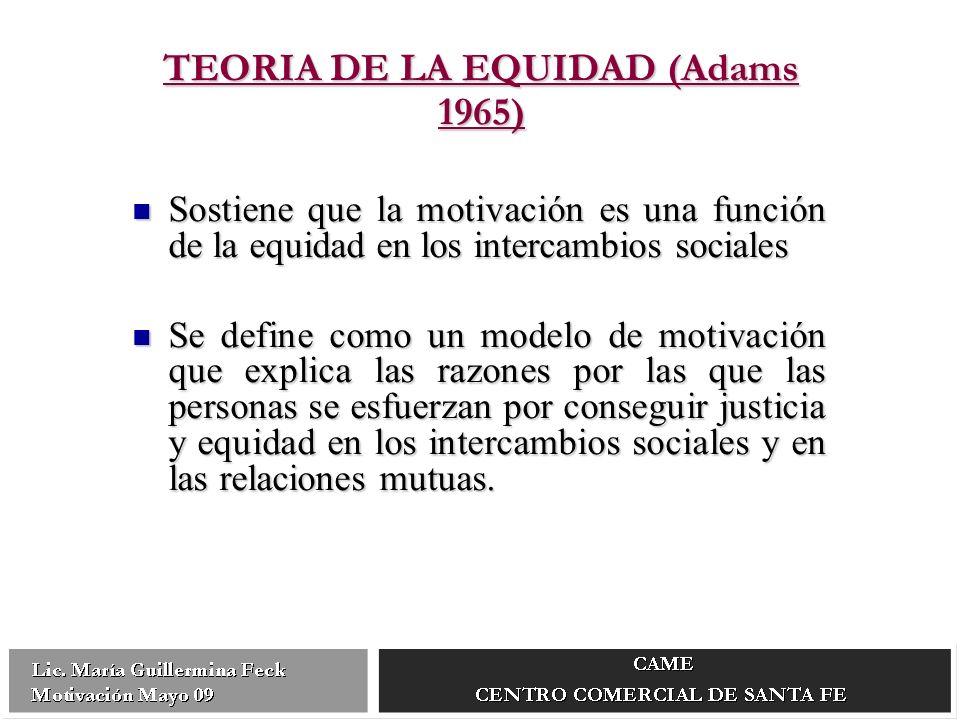 TEORIA DE LA EQUIDAD (Adams 1965)