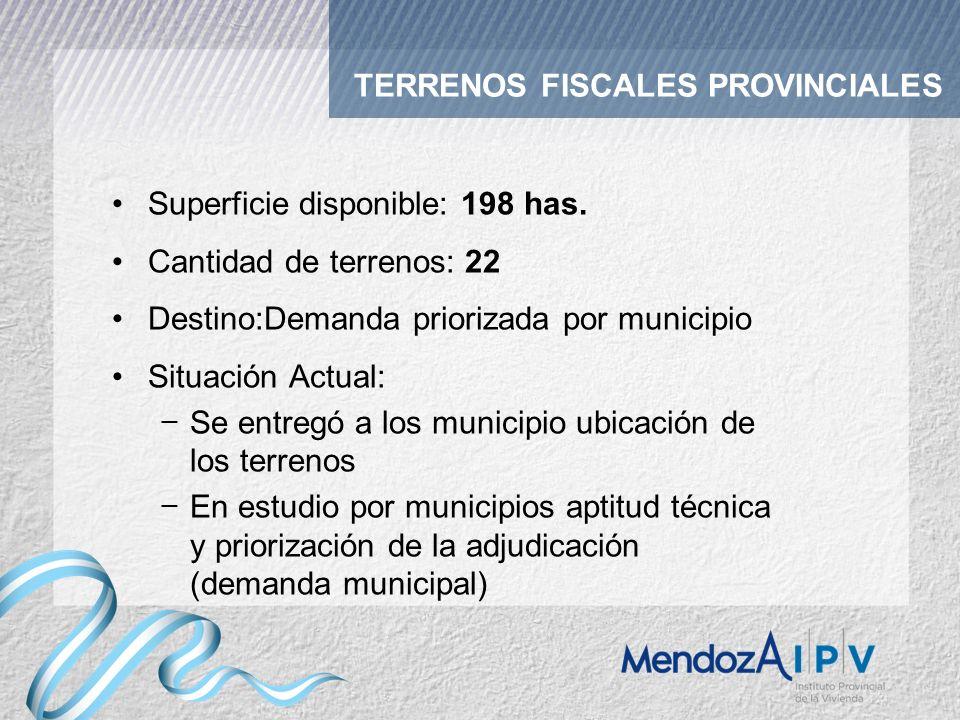 TERRENOS FISCALES PROVINCIALES