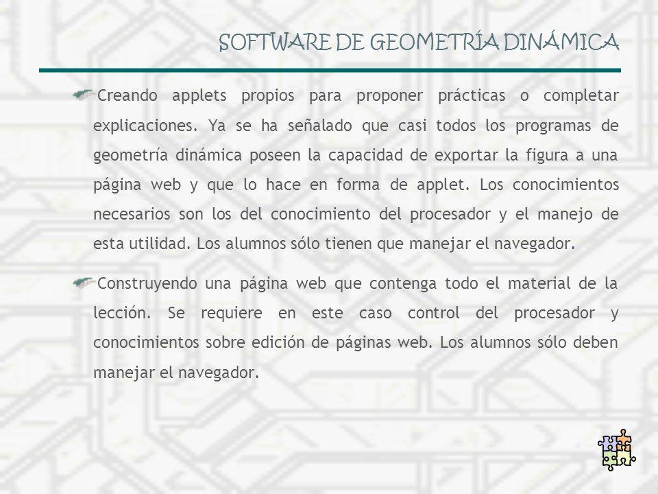 SOFTWARE DE GEOMETRÍA DINÁMICA
