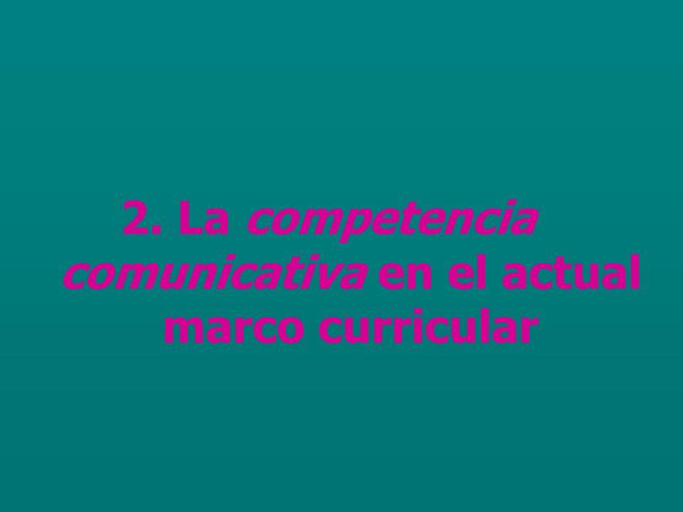 2. La competencia comunicativa en el actual marco curricular