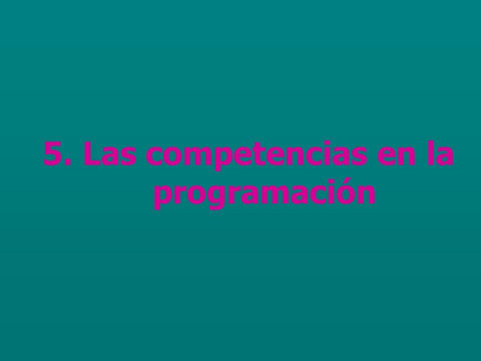 5. Las competencias en la programación