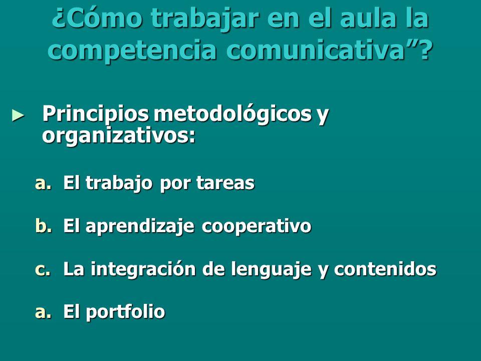 ¿Cómo trabajar en el aula la competencia comunicativa