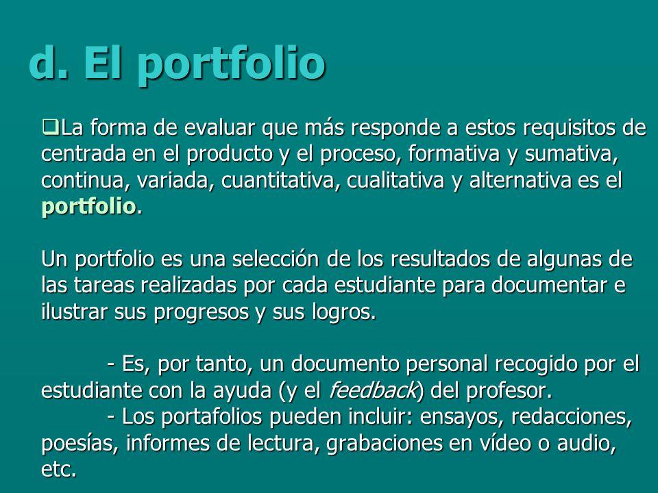 d. El portfolio