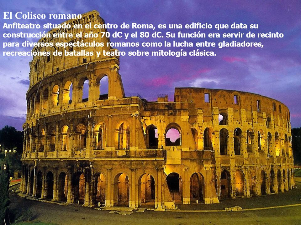 El Coliseo romano Coliseo