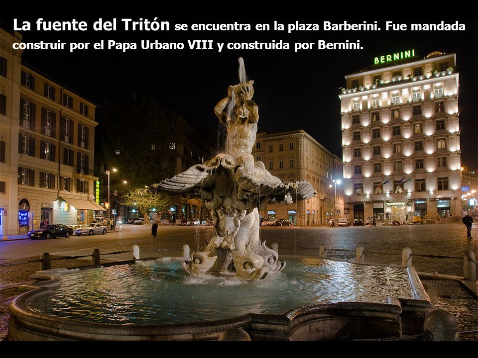 La fuente del Tritón se encuentra en la plaza Barberini