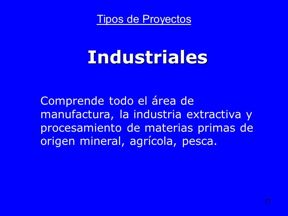 Industriales Tipos de Proyectos
