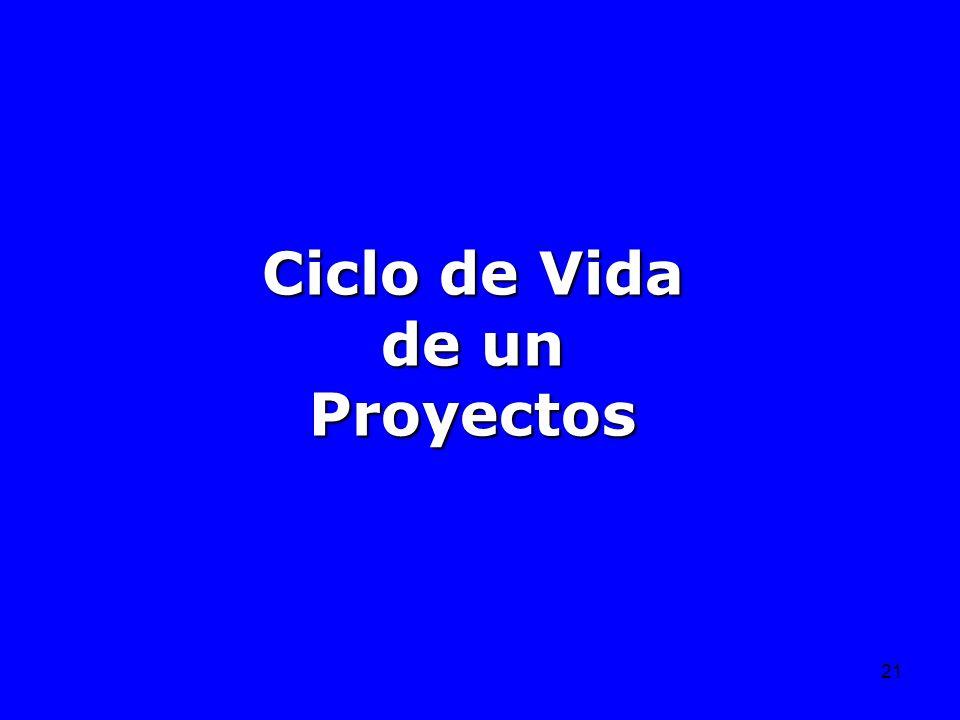 Ciclo de Vida de un Proyectos