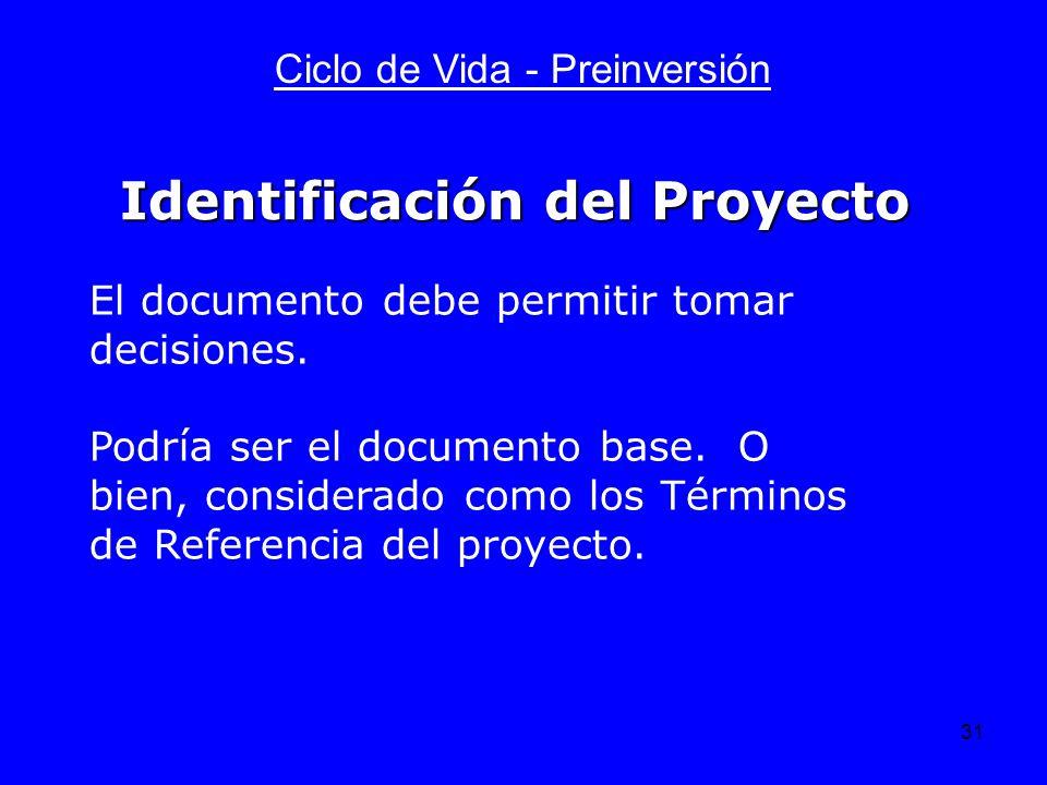 Identificación del Proyecto