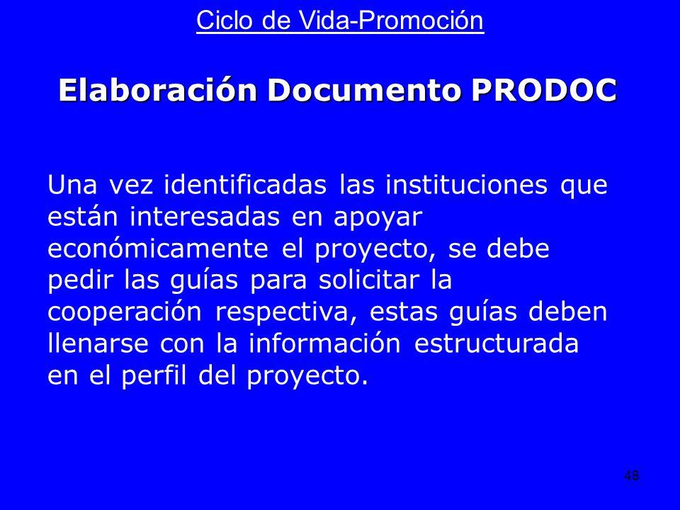 Elaboración Documento PRODOC
