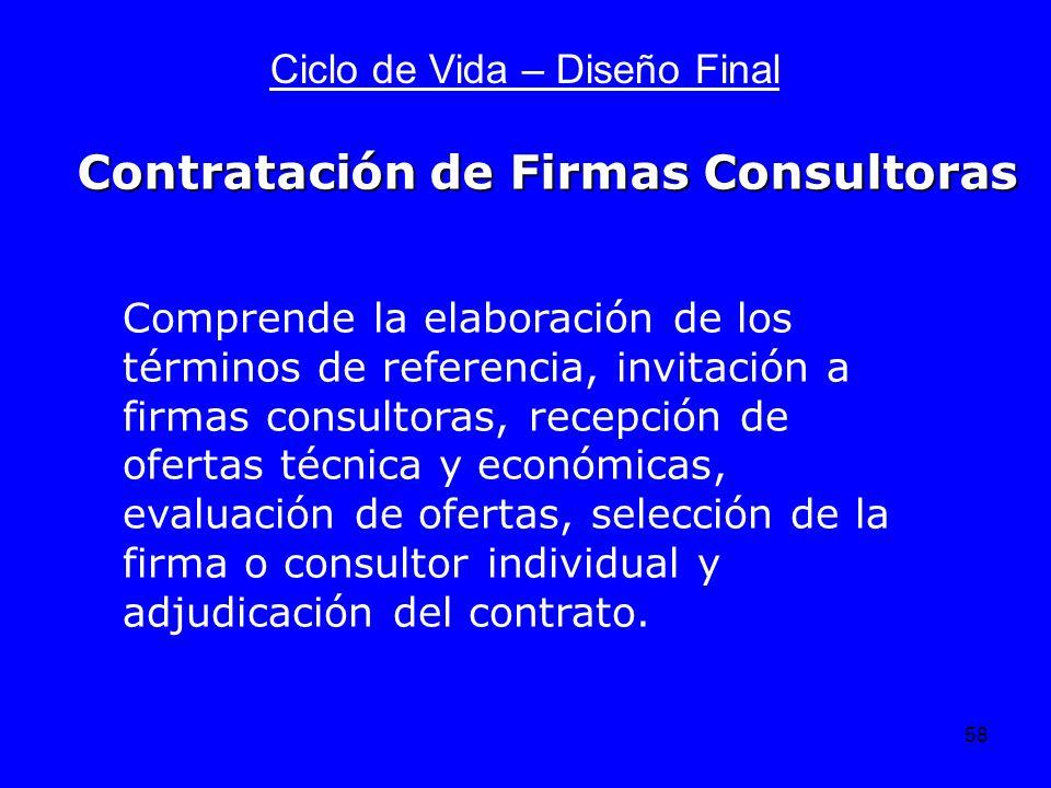 Contratación de Firmas Consultoras