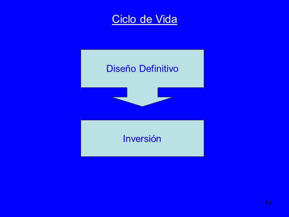 Ciclo de Vida Diseño Definitivo Inversión