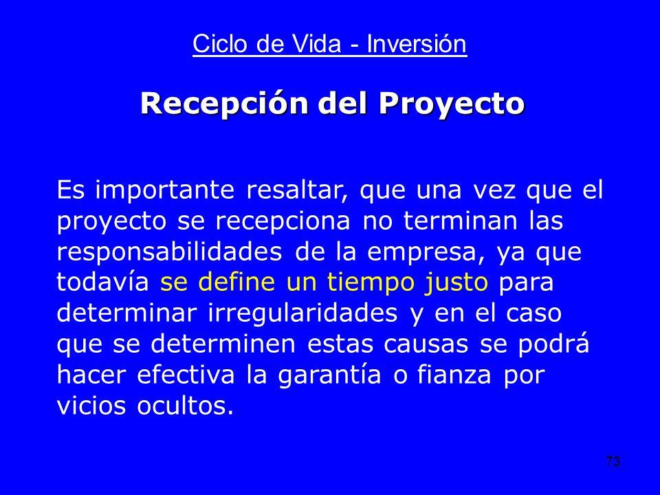 Recepción del Proyecto