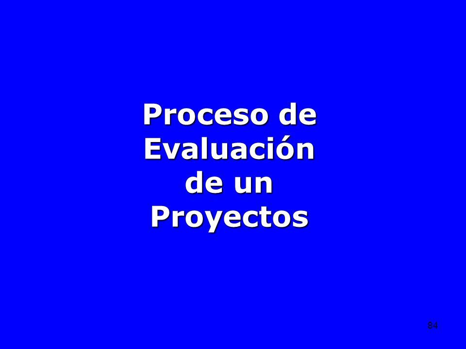 Proceso de Evaluación de un Proyectos