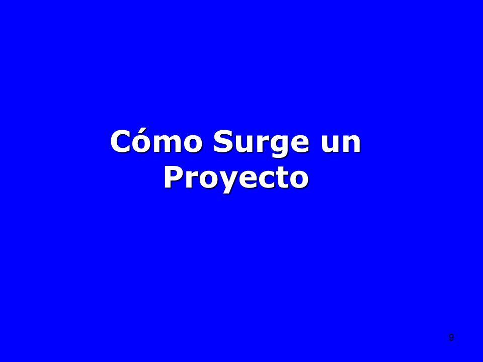 Cómo Surge un Proyecto