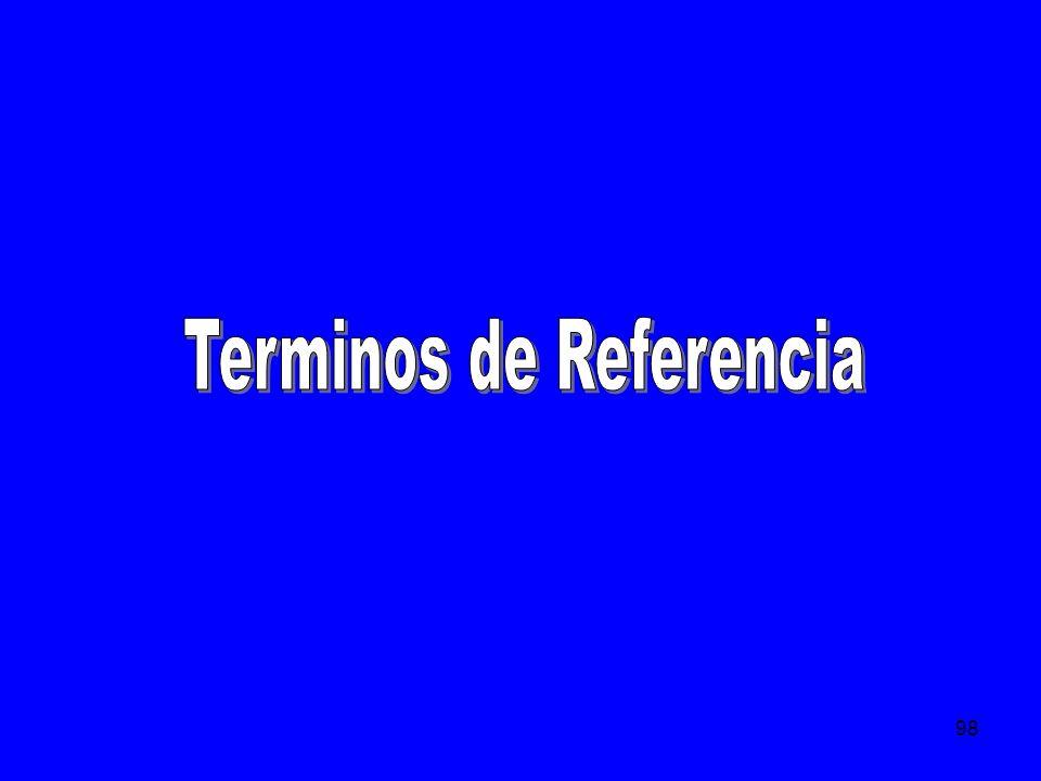 Terminos de Referencia