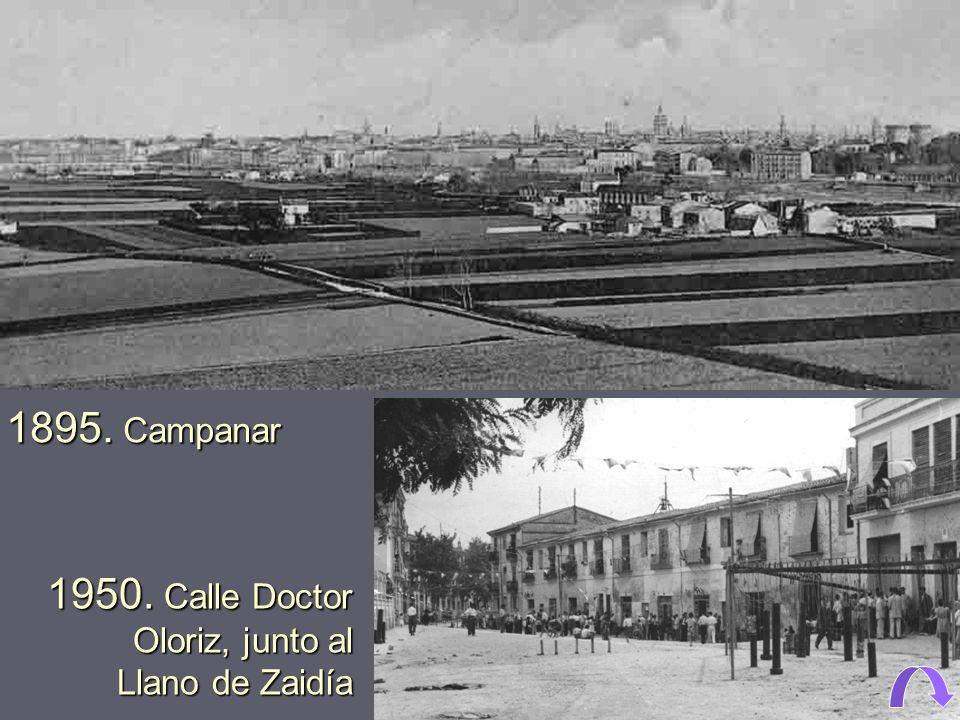1950. Calle Doctor Oloriz, junto al Llano de Zaidía