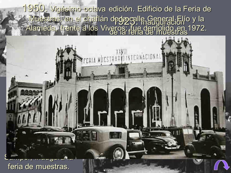1923. Inauguración de la feria de muestras por Alfonso XIII.
