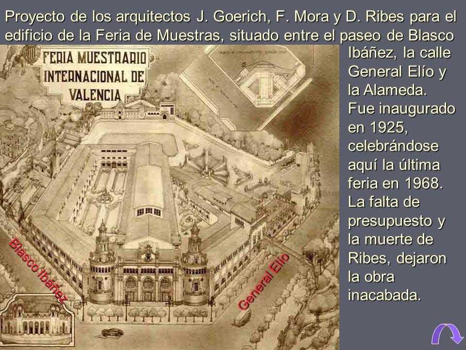 Proyecto de los arquitectos J. Goerich, F. Mora y D