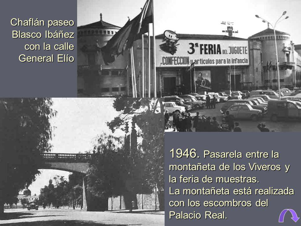 Chaflán paseo Blasco Ibáñez con la calle General Elío