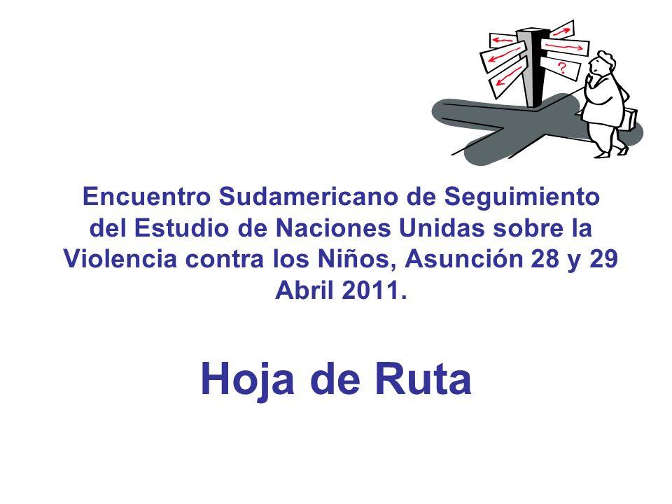 Encuentro Sudamericano de Seguimiento del Estudio de Naciones Unidas sobre la Violencia contra los Niños, Asunción 28 y 29 Abril 2011.