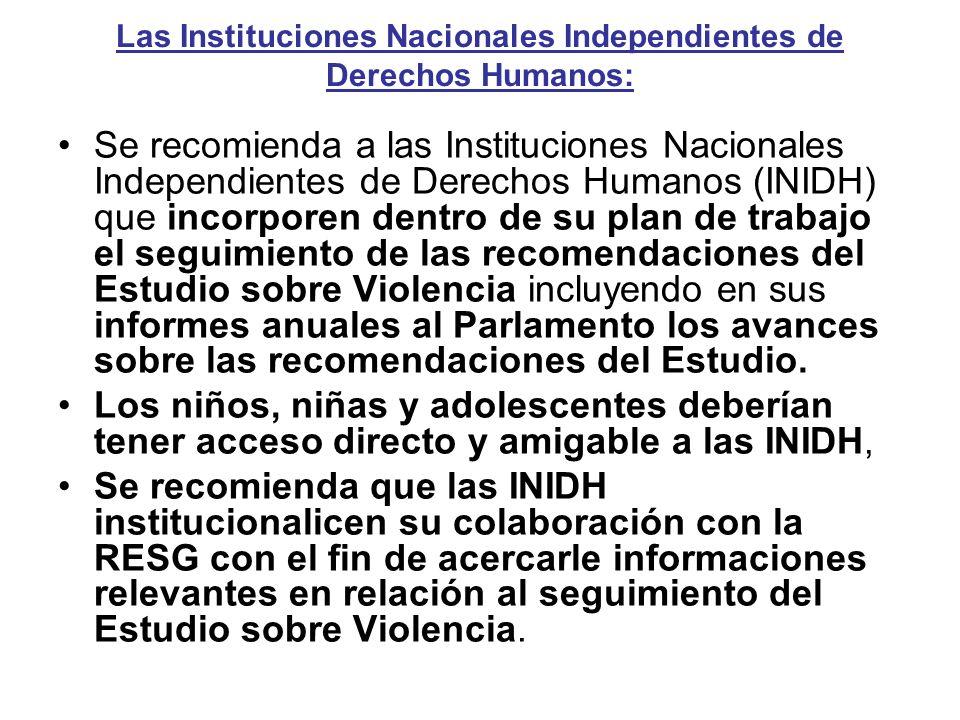 Las Instituciones Nacionales Independientes de Derechos Humanos: