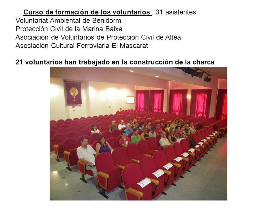 Curso de formación de los voluntarios : 31 asistentes
