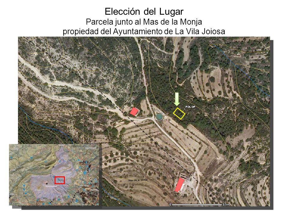 Elección del Lugar Parcela junto al Mas de la Monja