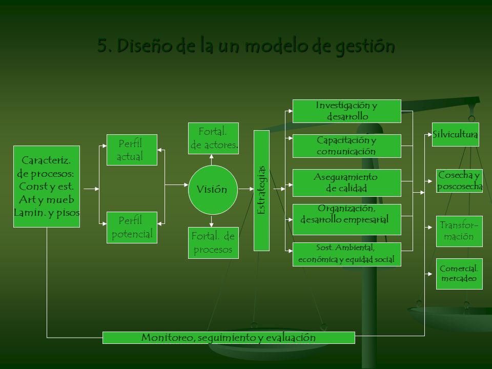 5. Diseño de la un modelo de gestión