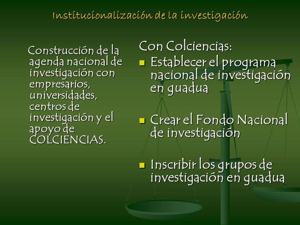 Institucionalización de la investigación