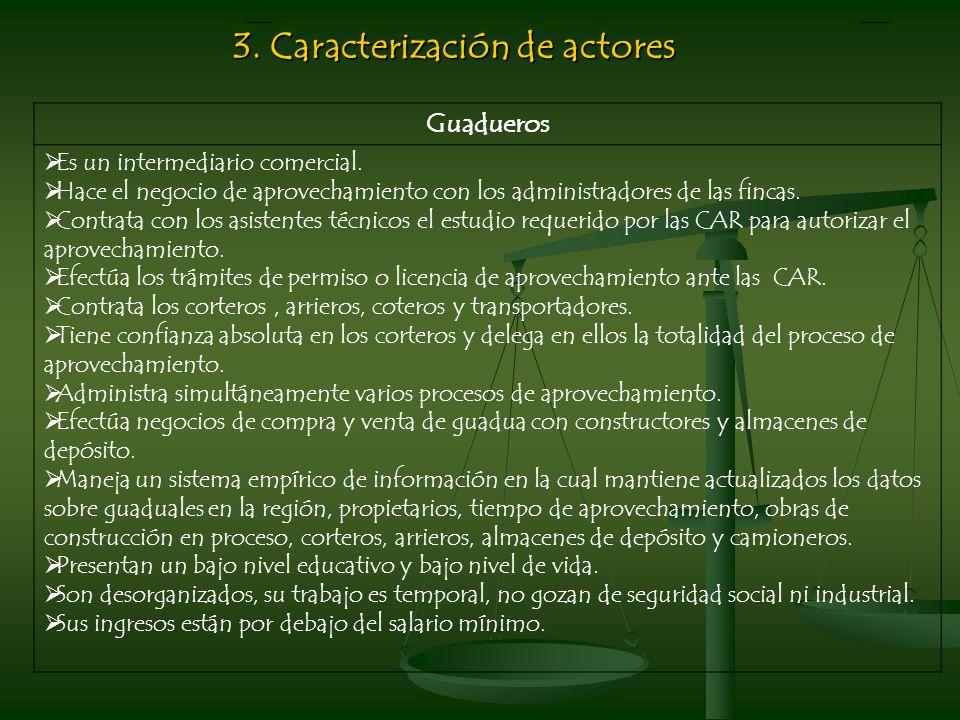 3. Caracterización de actores