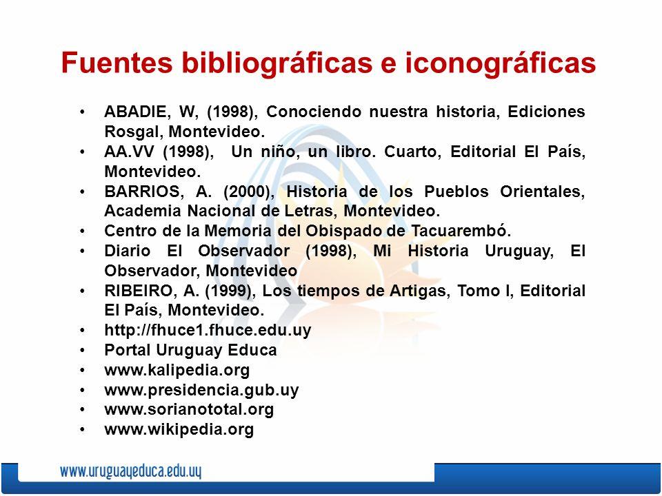 Fuentes bibliográficas e iconográficas