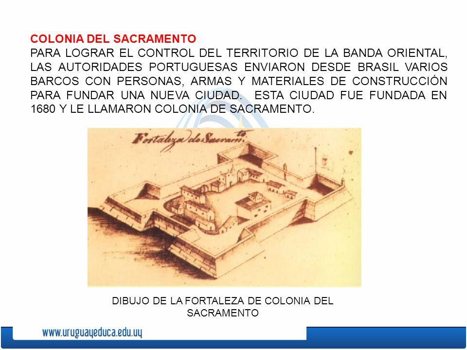 DIBUJO DE LA FORTALEZA DE COLONIA DEL SACRAMENTO