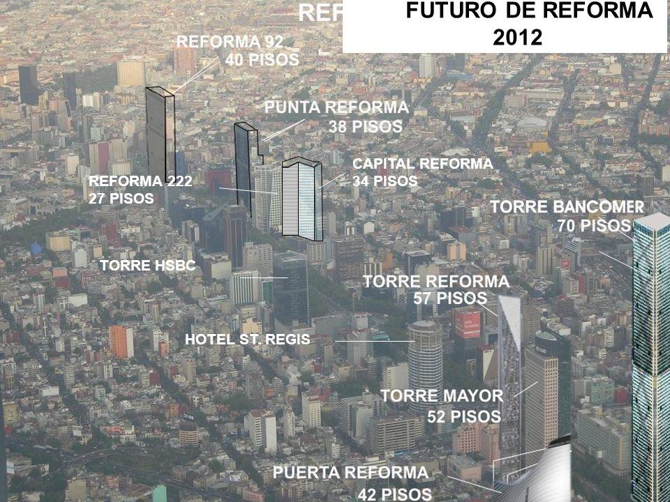 FUTURO DE REFORMA 2012 CAPITAL REFORMA 34 PISOS REFORMA 222 27 PISOS