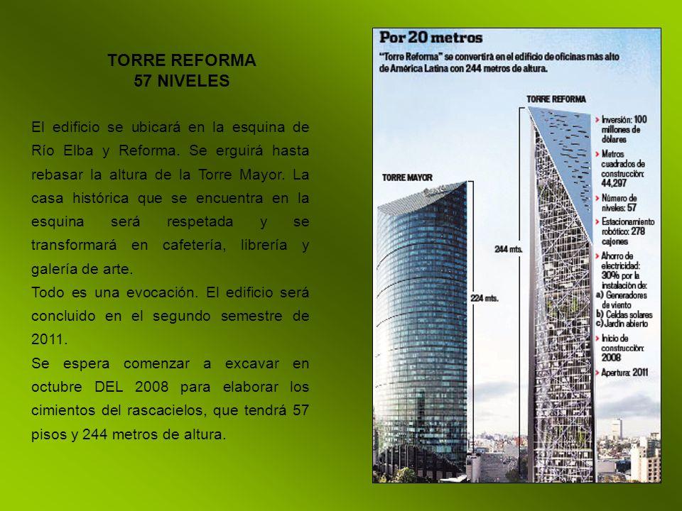 TORRE REFORMA 57 NIVELES.