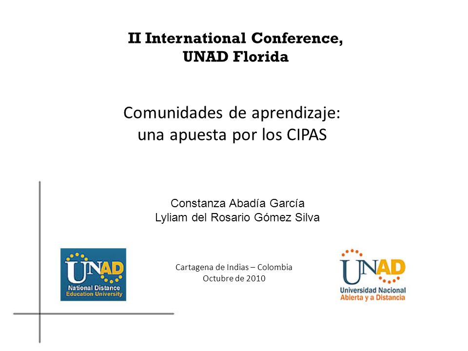 II International Conference, UNAD Florida