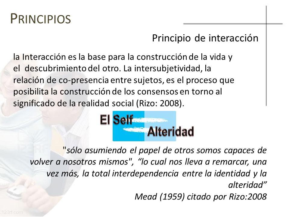 Principios El Self Alteridad Principio de interacción