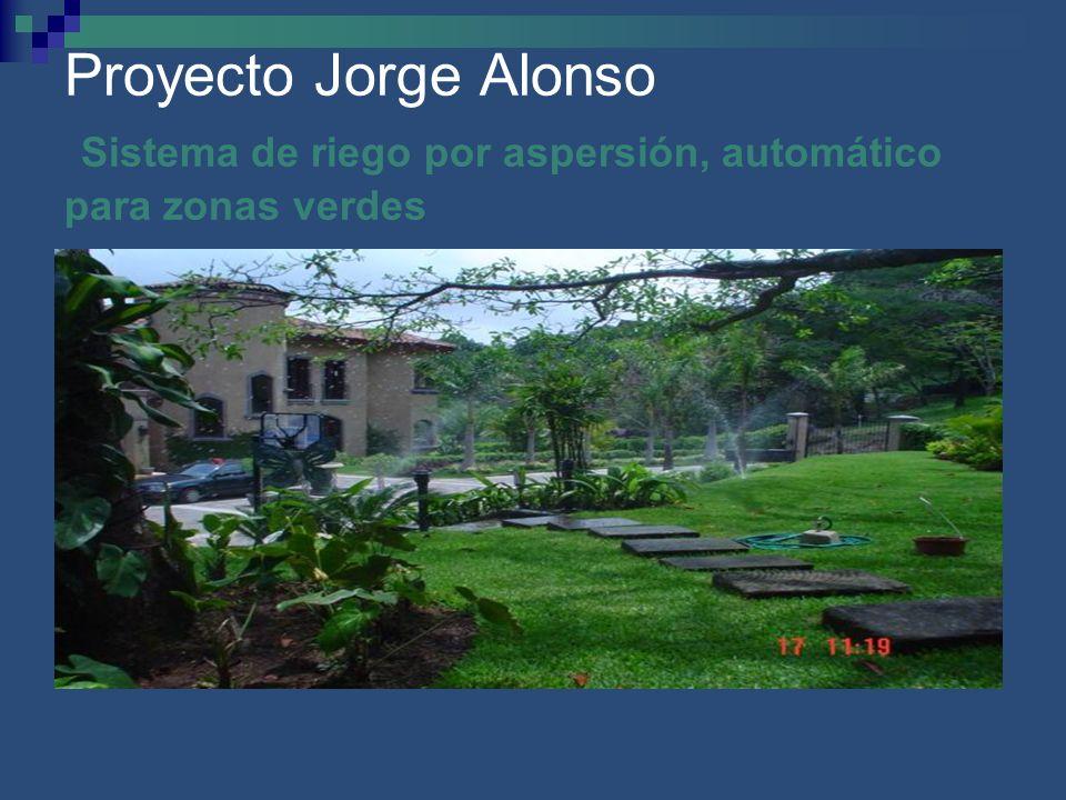Proyecto Jorge Alonso Sistema de riego por aspersión, automático para zonas verdes