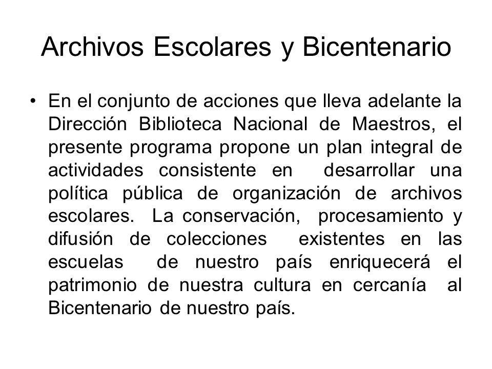 Archivos Escolares y Bicentenario