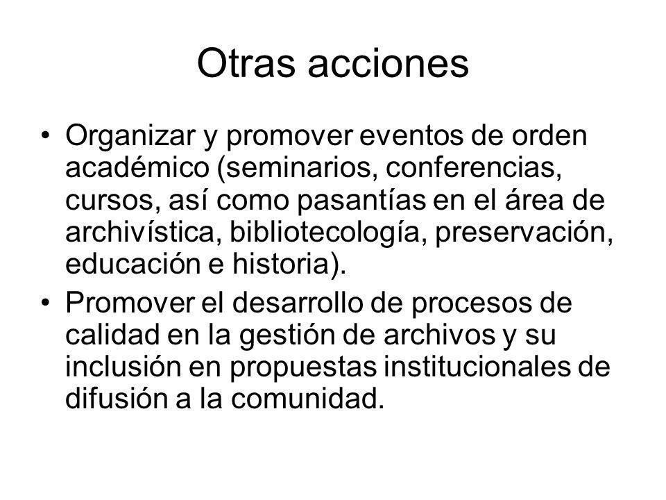 Otras acciones
