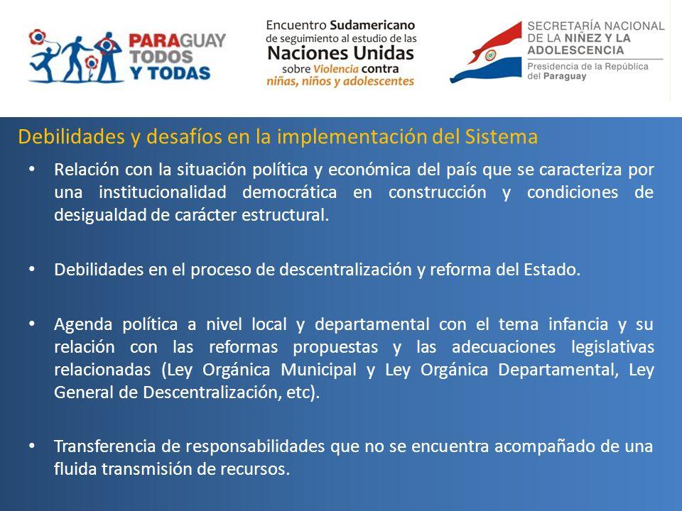 Debilidades y desafíos en la implementación del Sistema