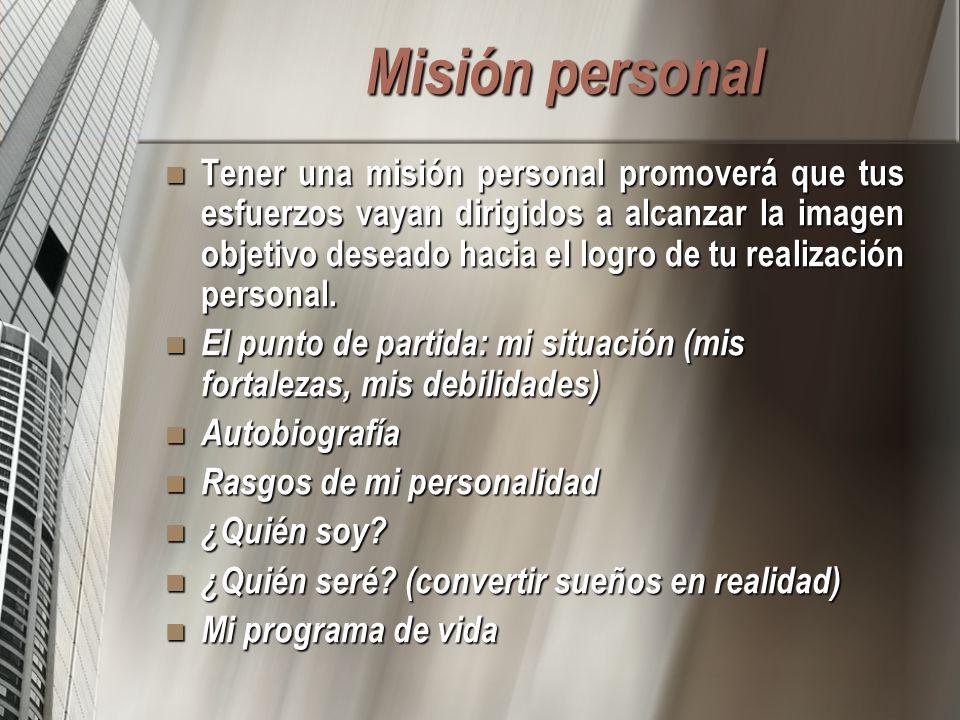 Misión personal