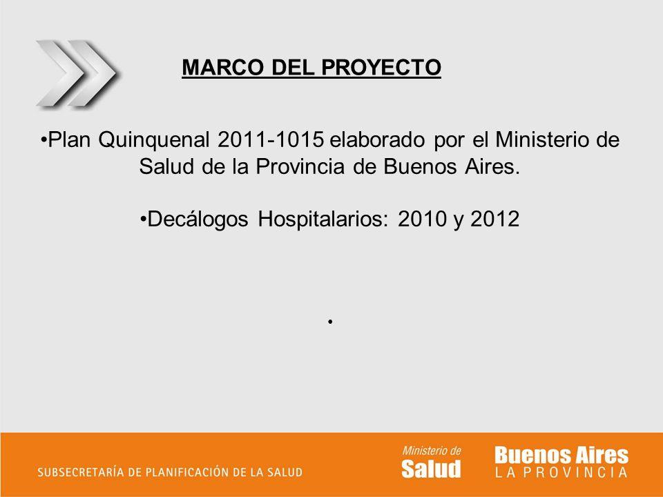 Decálogos Hospitalarios: 2010 y 2012