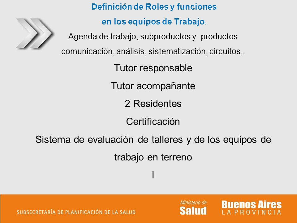 Definición de Roles y funciones en los equipos de Trabajo