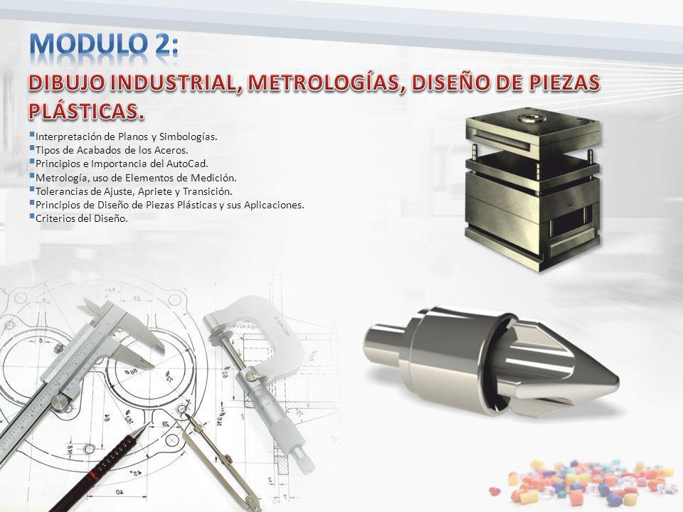 Modulo 2: DIBUJO INDUSTRIAL, METROLOGÍAS, DISEÑO DE PIEZAS PLÁSTICAS.